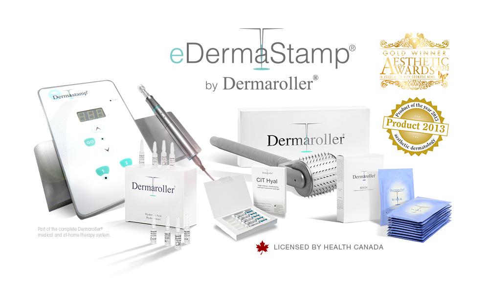 eDermaStamp Dermaroller Microneedling Device